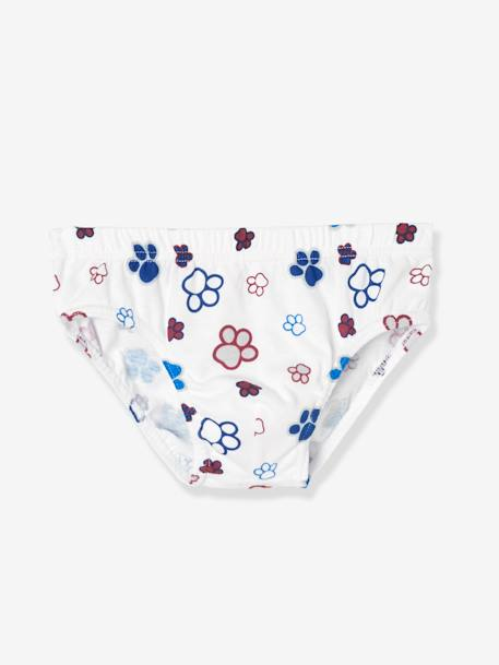 Pack of 7 Assorted Paw Patrol® Briefs BLUE DARK SOLID WITH DESIGN - vertbaudet enfant