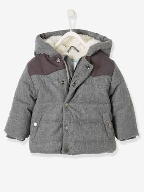 Baby-Outerwear-Coats-Padded Jacket with Hood for Baby Boys