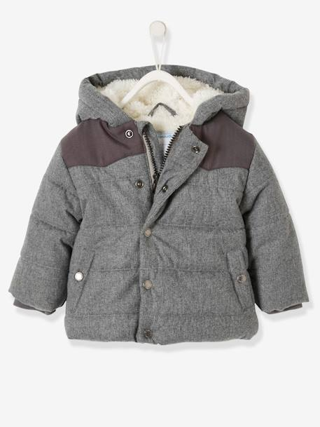 0b149547bda5f Padded Jacket with Hood for Baby Boys - grey medium mixed color …