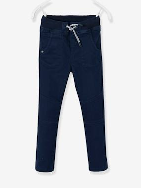 Vertbaudet Sale-Boys-Trousers-WIDE Hip Slim Trousers for Boys