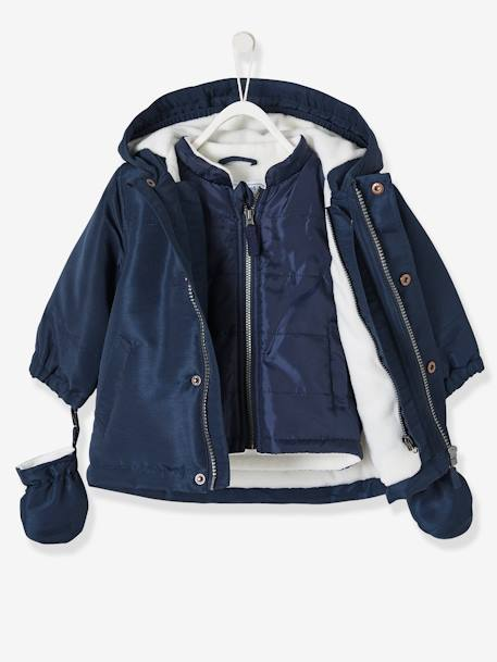a508bb991b2b0 Baby Boys' 3-in-1 Adaptable Parka - blue dark solid, Baby