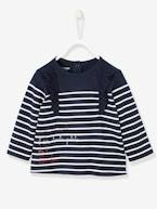Striped Top for Baby Girls, I am toute petite  - vertbaudet enfant