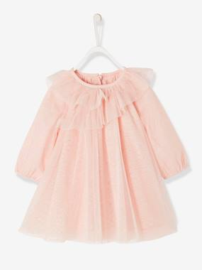 Vertbaudet Collection-Baby-Tulle Party Dress with Glitter