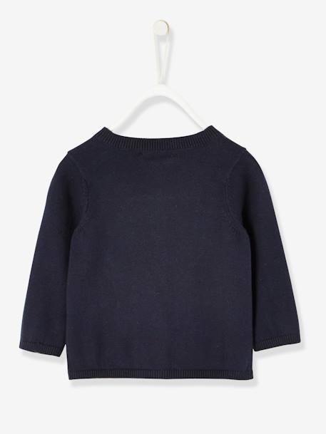 Baby Girls' Knit Cardigan BLUE DARK SOLID - vertbaudet enfant