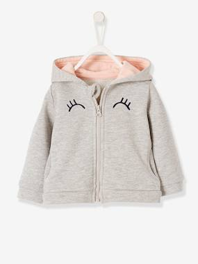bebe-london-Sweat irisé zippé de sport bébé fille