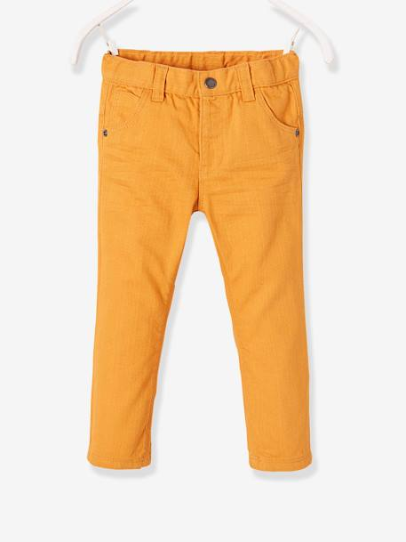 Baby Boys' Straight-Cut Trousers GREEN DARK SOLID+GREY DARK SOLID+ORANGE MEDIUM SOLID+RED BRIGHT SOLID - vertbaudet enfant