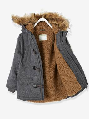 Vertbaudet Collection-Hooded Parka for Boys