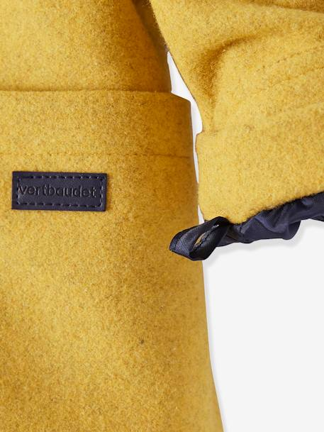Baby Boys' Padded Duffle Coat with Warm Lining YELLOW DARK MIXED COLOR - vertbaudet enfant