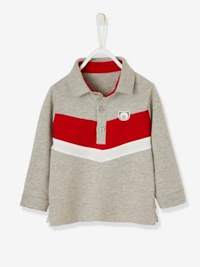 Vertbaudet Sale-Baby-T-shirts & Roll Neck T-Shirts-Polo Shirt with Explorer Motif for Baby Boys
