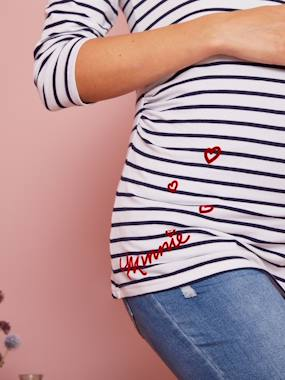 Maternity-Maternity Sailor-Look Minnie® Top
