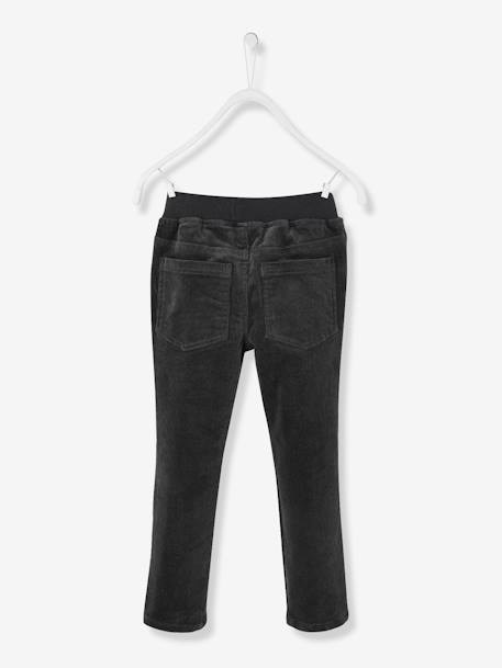 Top + Slim Leg Trousers for Boys GREY DARK SOLID WITH DESIGN - vertbaudet enfant