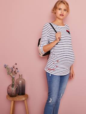 Maternity-T-shirts & Tops-Maternity Sailor-Look Minnie® Top