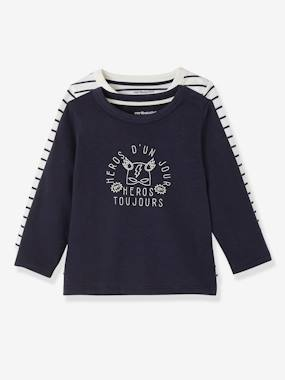 Happy Price Collection-Baby-Pack of 2 Baby Girls' Long-Sleeved T-Shirts