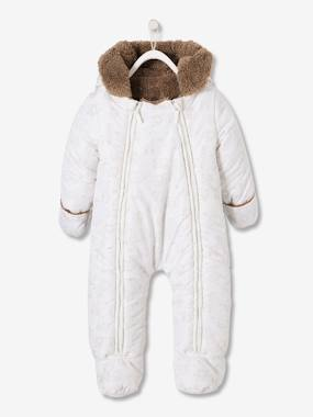Baby-Outerwear-Snowsuits-Jumpsuit with Starry Iridescent Print for Babies
