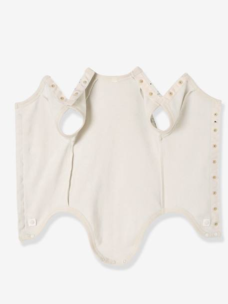 Baby Short-Sleeved Organic Cotton Bodysuit, Especially for Premature Babies GREY LIGHT ALL OVER PRINTED+Pale grey striped+Pale pink striped+PINK LIGHT ALL OVER PRINTED+White+WHITE LIGHT ALL OVER PRINTED - vertbaudet enfant