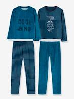 Pack of 2 Sets of Dual Fabric Pyjamas  - vertbaudet enfant