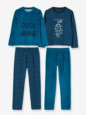 Vertbaudet Collection-Boys-Pack of 2 Sets of Dual Fabric Pyjamas