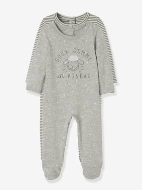 Schoolwear-Baby-Pack of 2 Velour Pyjamas for Babies, Press Studs on the Back