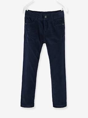 Vertbaudet Sale-Boys-Trousers-Boys' Straight Cut Velvet Trousers