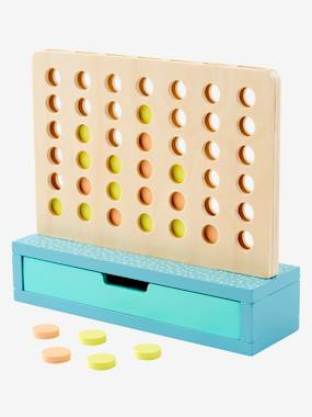 Toys-Traditional Games-4 In a Row! Wooden Game