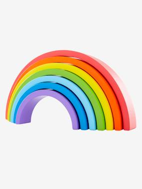 Toys-Wooden Rainbow-Shaped Puzzle