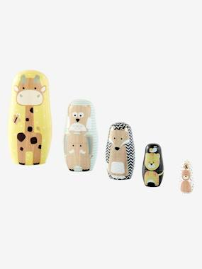 Toys-Wooden Animal Nesting Dolls