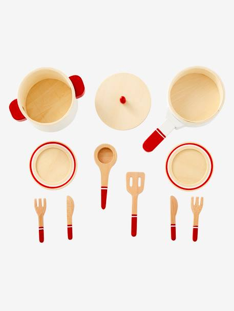 Set of Kitchen Utensils in Wood GREEN MEDIUM 2 COLOR/MULTICOLR - vertbaudet enfant