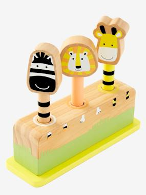 Toys-Wooden Pop Up Jungle Game