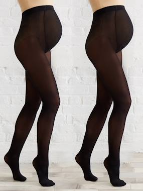 Vertbaudet Sale-Maternity-Pack of 2 pairs of opaque Maternity tights
