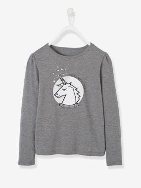 Winter collection-Girls-Tops-Iridescent & Embroidered Unicorn Top for Girls
