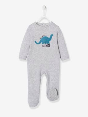 Baby-Pyjamas-Fleece Pyjamas with Press-Studs on the Back, for Babies