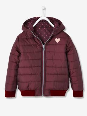 Vertbaudet Sale-Girls-Coats & Jackets-Reversible Padded Jacket for Girls