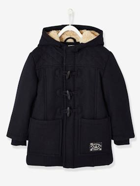 Boys-Coats & Jackets-Boys' Duffle-Coat with Fleece Lining