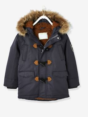 Vertbaudet Collection-Boys-Parka with Lining & Hood, for Boys