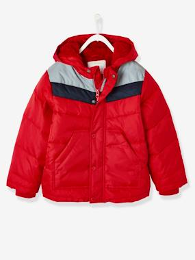 Vertbaudet Sale-Three-Tone Down Jacket with Reflective Details, for Boys