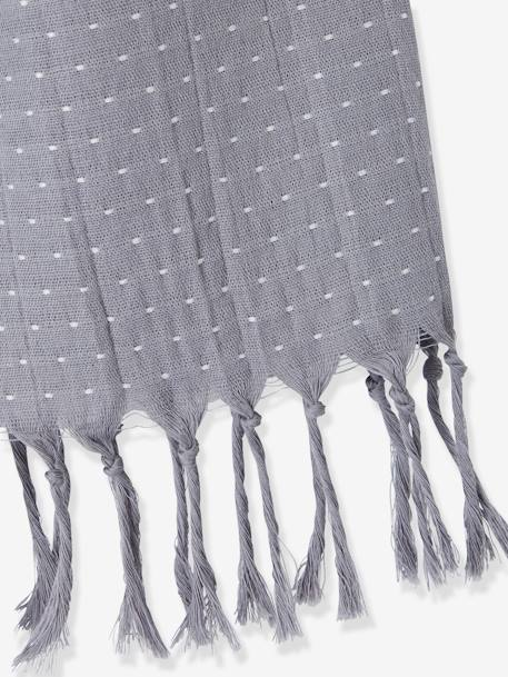 Boys Reversible Scarf Printed grey - vertbaudet enfant