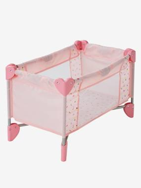 Toys-Dolls & Accessories-Travel Cot + Cover for Dolls