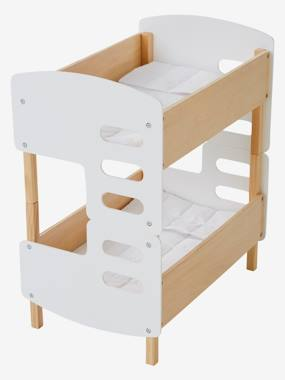 Toys-Dolls & Accessories-Wooden Bunk Bed for Dolls