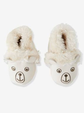 "Shoes-Baby Footwear-Slippers-Soft Leather ""Bear"" Shoes for Babies"