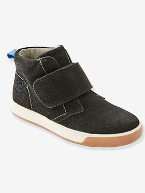 Shoes-Boys Footwear-Shoes-Leather Boots with Touch 'n' Close Fastening for Boys