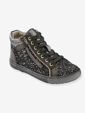 Outlet-Shoes-Girls' Leather High-Top Trainers