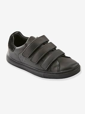 Mid season sale-Shoes-Leather Trainers with Touch 'n' Close Tab for Boys