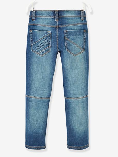 NARROW Hip, Straight Leg MorphologiK Jeans for Boys BLUE DARK SOLID - vertbaudet enfant
