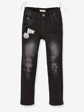 Vertbaudet Sale-Boys-Trousers-WIDE Hip, Slim Leg Jeans for Boys