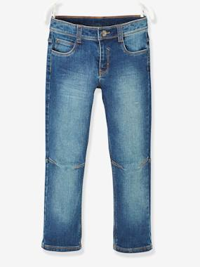 Boys-Jeans-Straight Leg Jeans for Boys, MEDIUM Hip, MorphologiK, with Twisted Seams
