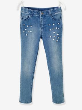 Winter collection-Girls-Jeans-Slim Leg Trousers with Pearls for Girls