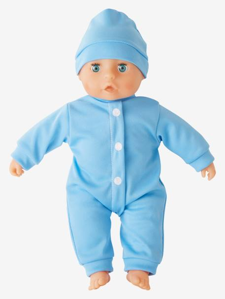 Baby Boy Doll BLUE LIGHT SOLID WITH DESIGN - vertbaudet enfant