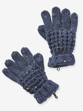 Vertbaudet Sale-Boys-Accessories-Mottled Gloves for Boys