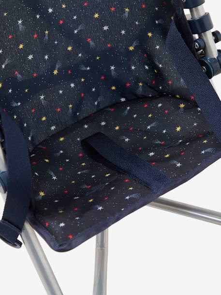 Umbrella Stroller for Dolls BLUE DARK ALL OVER PRINTED - vertbaudet enfant