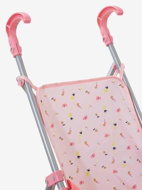 Umbrella Stroller for Dolls PINK MEDIUM ALL OVER PRINTED - vertbaudet enfant